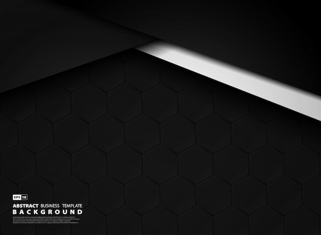Fond de technologie abstraite modèle sombre