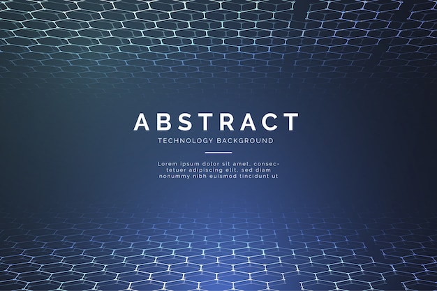 Fond de technologie abstraite moderne avec des hexagones 3d