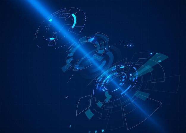 Fond de technologie abstraite de science-fiction cyberespace