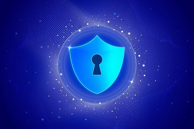 Fond de technologie abstraite sécurisée
