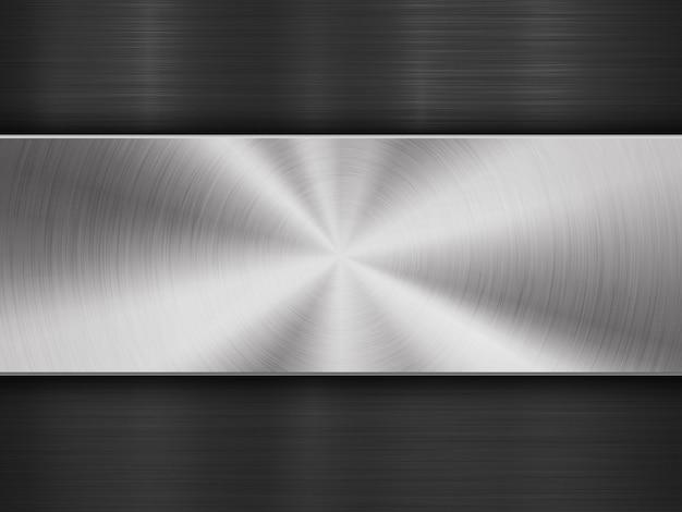 Fond de technologie abstraite texturée en métal