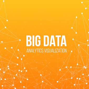 Fond de technologie big data.