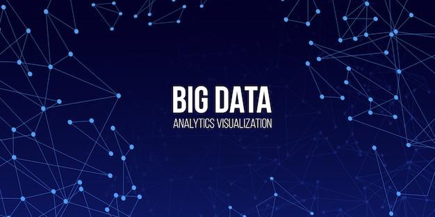 Fond de technologie big data.