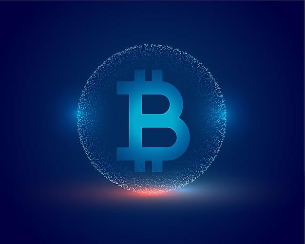 Fond de technologie bitcoin concept crypto-monnaie