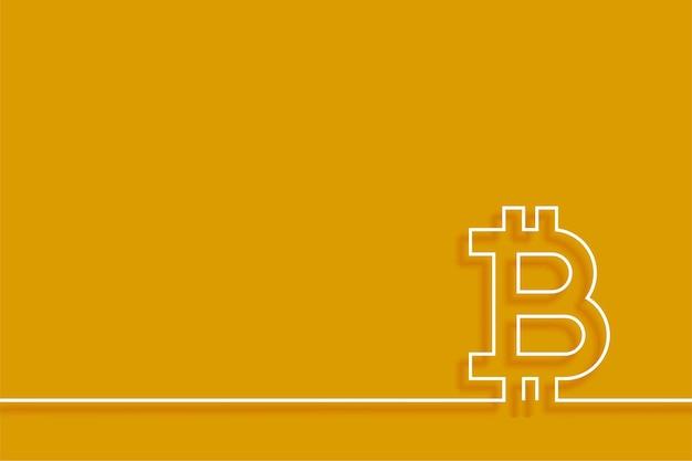 Fond de technologie bitcoin de style minimaliste