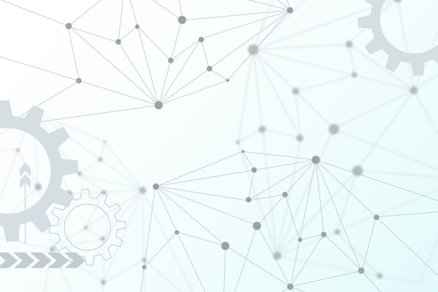 Fond de technologie blanc futuriste