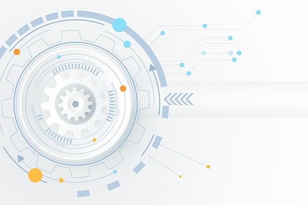 Fond de technologie blanc
