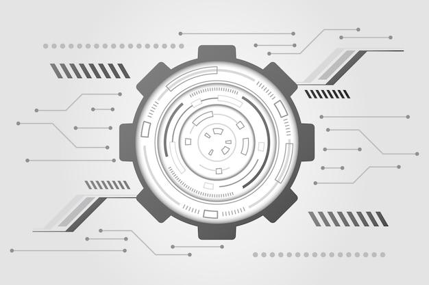Fond de technologie blanche minimale