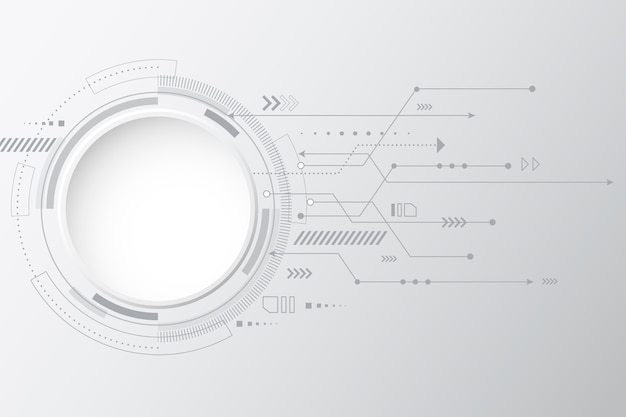 Fond avec technologie blanche