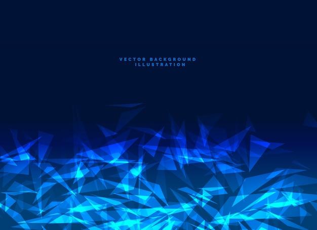 Fond de technologie bleu abstrait