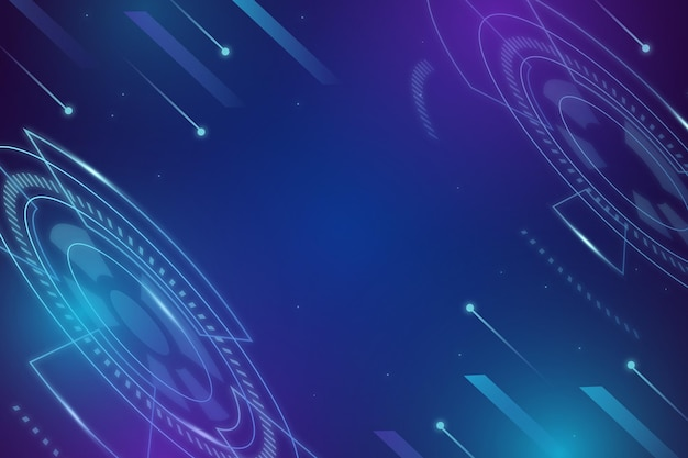 Fond de technologie bleu dégradé