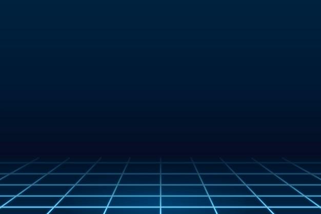 Fond de technologie bleu géométrique