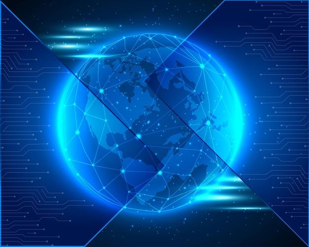 Fond de technologie bleu