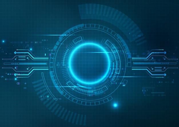 Fond de technologie bleue futuriste