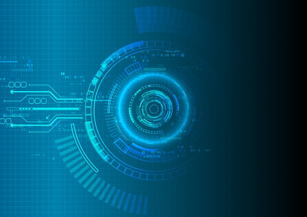 Fond de technologie blue shade