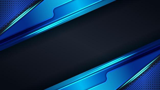 Fond de technologie de cadre de lumière bleue