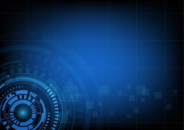 Fond de technologie de cercle abstrait