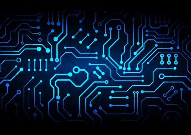 Fond de technologie de circuit avec connexion de données numériques
