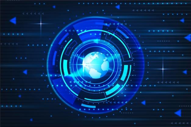 Fond de technologie circuit cyber eye