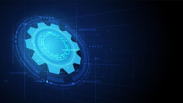 Fond de technologie de circuit d'engrenage