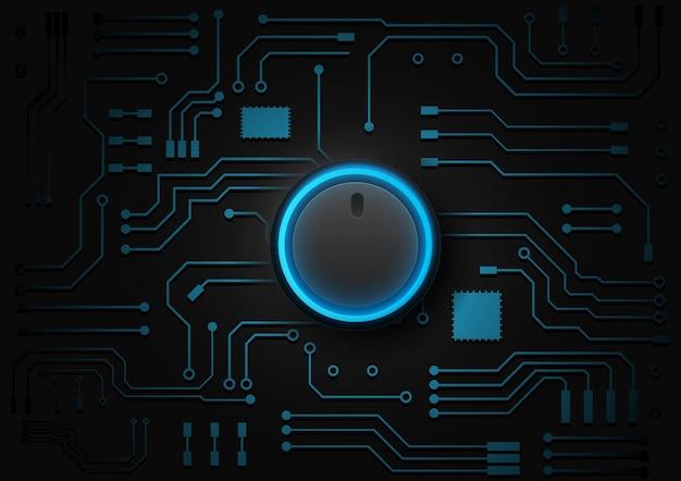Fond de technologie de circuit avec illustration de système de connexion de données numériques hi-tech