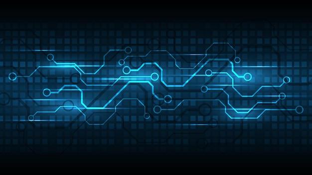 Fond de technologie circuit imprimé hi-tech communication concept innovation abstrait illustration vectorielle