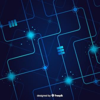 Fond de technologie avec circuit imprimé