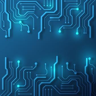 Fond de technologie de circuit imprimé