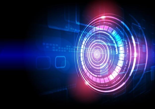 Fond de technologie de circuit avec numérique hi-tech