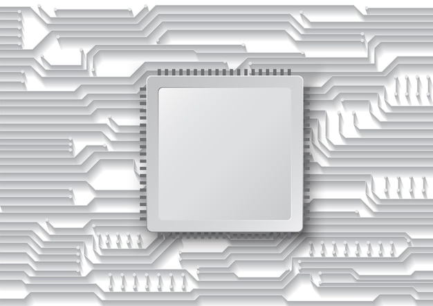 Fond de technologie de circuit avec système de connexion de données numériques de haute technologie et conception électronique informatique
