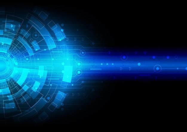 Fond de technologie de circuit avec système de connexion de données numériques de haute technologie et conception électronique d'ordinateur