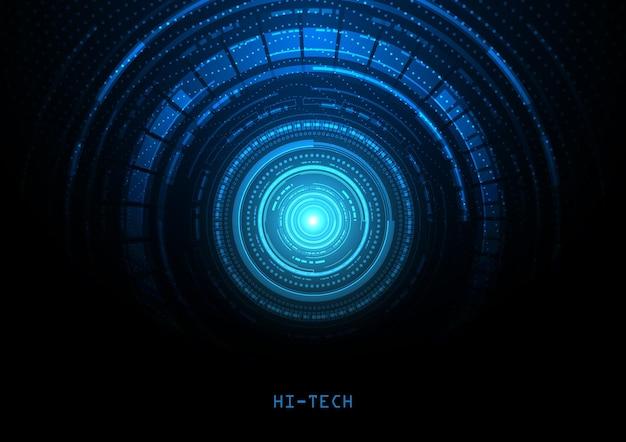 Fond de technologie de circuit avec système de connexion de données numériques de haute technologie et conception électronique par ordinateur