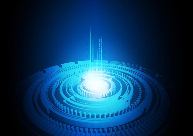 Fond de technologie de circuit avec système de connexion de données numériques de haute technologie et conception électronique
