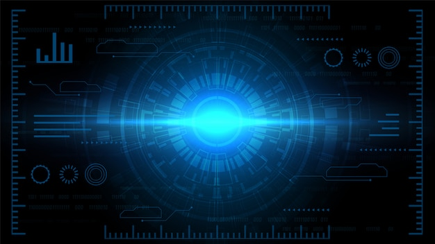 Fond de technologie de circuit avec système de connexion de données numériques de haute technologie et électronique informatique