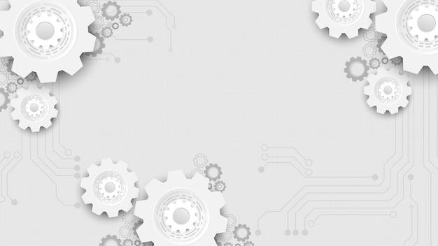 Fond de technologie de circuit avec système de connexion de données numériques de haute technologie