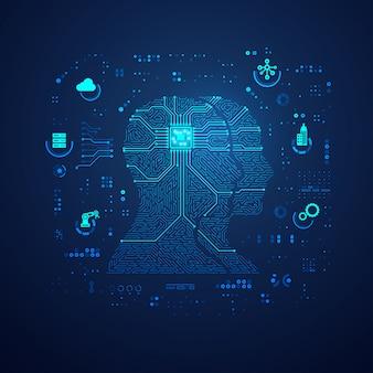 Fond de technologie de communication ou iot