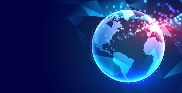 Fond de technologie de concept de terre numérique