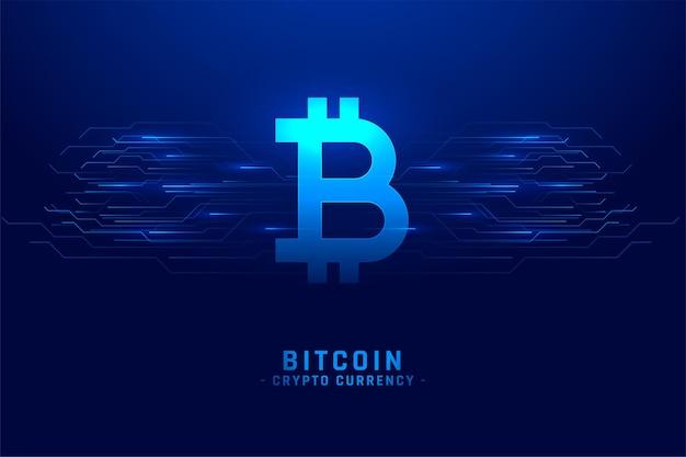 Fond de technologie de crypto-monnaie bitcoin numérique