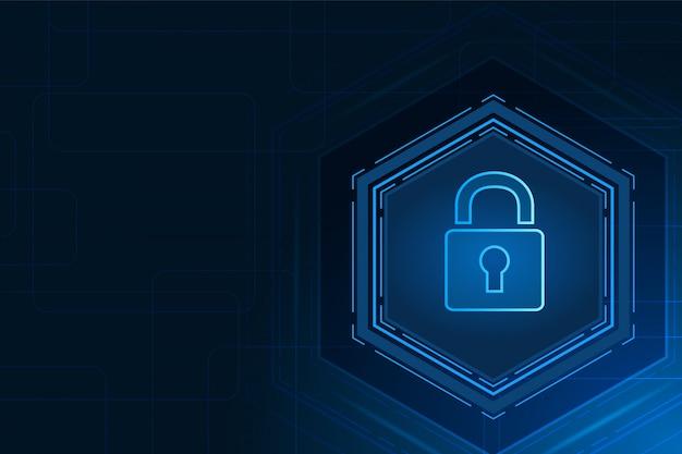 Fond de technologie de cybersécurité