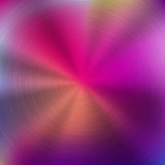 Fond de technologie dégradé de couleur rose abstrait en métal avec texture concentrique polie circulaire