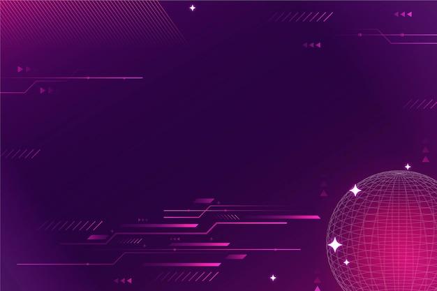 Fond de technologie dégradé violet