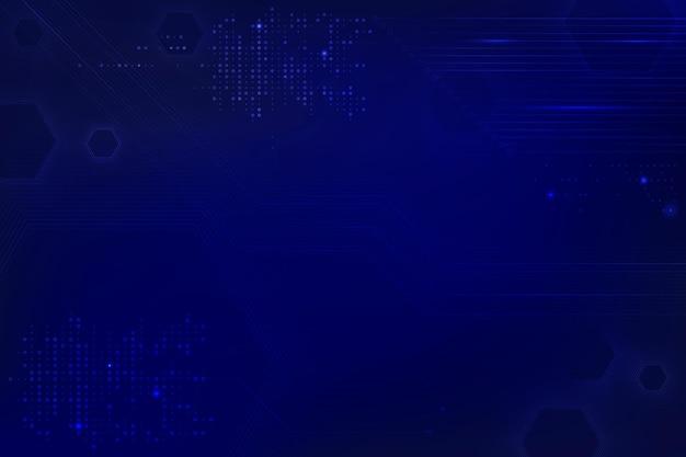 Fond de technologie de données bleu avec circuit imprimé