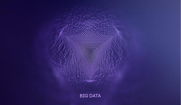 Fond de technologie de données volumineuses. apprentissage profond des algorithmes de code binaire. analyse de la réalité virtuelle. machine d'apprentissage de la science des données. recherche et automatisation de données d'intelligence artificielle.