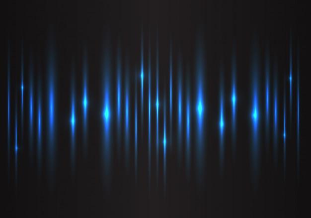 Fond de technologie d'énergie de lumière bleue vitesse puissance.