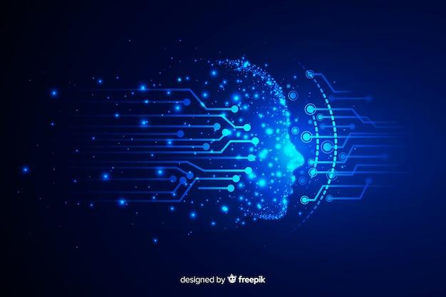 Fond de technologie face aux particules