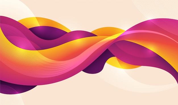 Fond de technologie faite de fluide abstrait