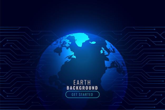 Fond de technologie avec la forme de la terre
