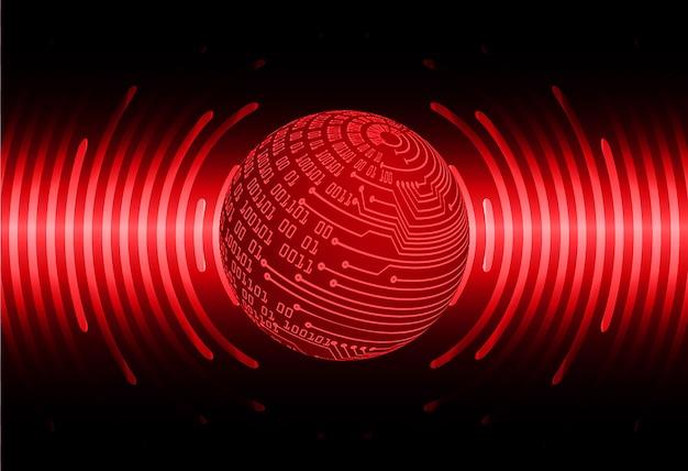Fond de technologie future du circuit cyber du monde rouge