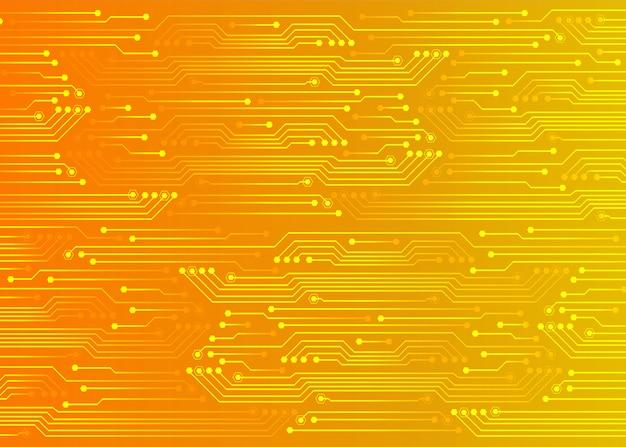 Fond de technologie future orange cyber circuit