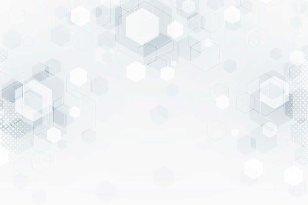 Fond de technologie futuriste floue blanche